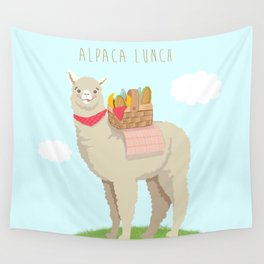 Alpaca Lunch Wall Tapestry