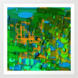 round green garden Art Print