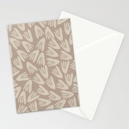Papier Découpé Modern Abstract Cutout Pattern in Light Coffee and Soft Taupe Stationery Cards