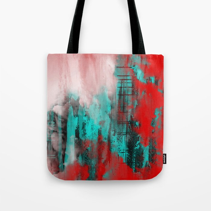 Intense Red And Blue Tote Bag
