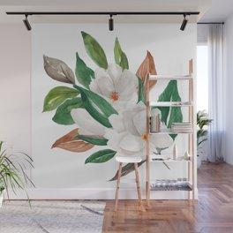 White Magnolia Bouquet I Wall Mural