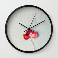 clover Wall Clocks featuring clover by Claudia Drossert
