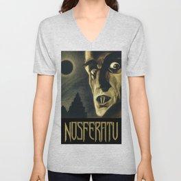 Nosferatu, Vintage Horror Movie Poster Unisex V-Neck