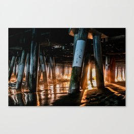 Light Under the Pier Canvas Print