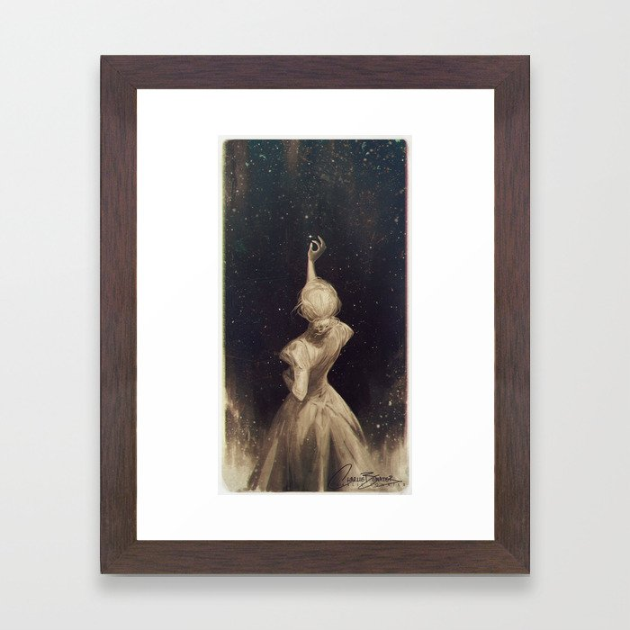 The Old Astronomer Framed Art Print by charliebowater   Society6