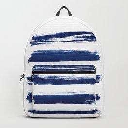 Indigo Brush Strokes   No. 2 Backpack