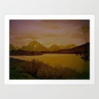 postcard Art Prints featuring postcard by n8 bucher