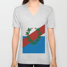 Flag of La rioja Unisex V-Neck
