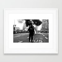 police Framed Art Prints featuring Police by Antonio J. Galante Photographer