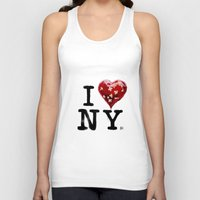 banksy Tank Tops featuring Banksy * I Love New York by The Invisible Shop