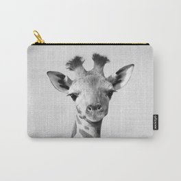 Baby Giraffe - Black & White Carry-All Pouch