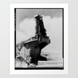 TEST STAND 1-A UTILIZED TO TEST THE ATLAS ICBM Art Print