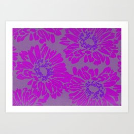 Bright Pink Sunflowers Art Print