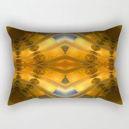Amber Light Kaleidoscope Rectangular Pillow