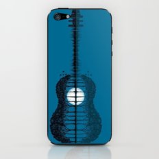 Trees sea and the moon turned guitar iPhone & iPod Skin