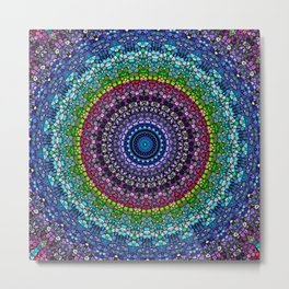 Magical Gems Kaleidoscope Metal Print
