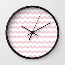Pink Zig Zag Pattern Wall Clock
