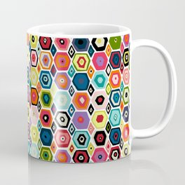 hex diamond white Coffee Mug