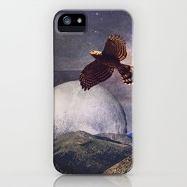 Hawk Moon iPhone Case