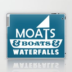 Moats and Boats and Waterfalls Graphic in Blue Laptop & iPad Skin