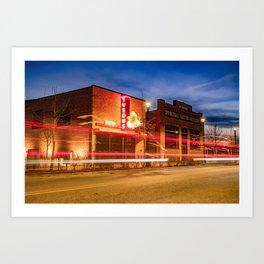 Downtown Springdale Arkansas Skyline At Dusk Art Print