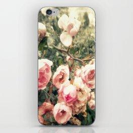 vague memory and roses iPhone Skin