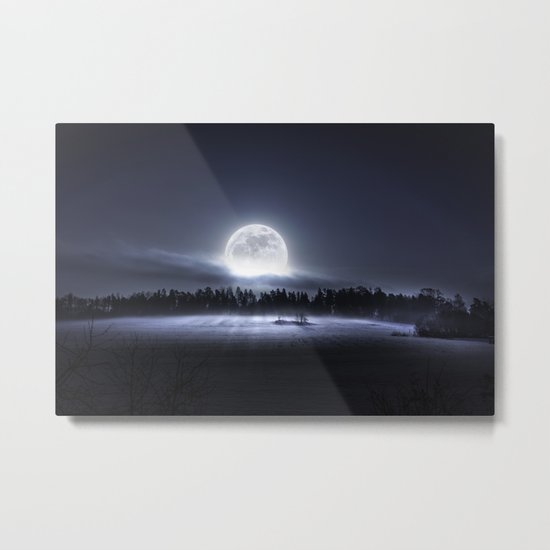 When the moon wakes up Metal Print