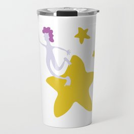 Reach for the Stars - Yellow Travel Mug