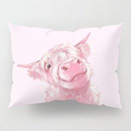 Highland Cow Pink Pillow Sham