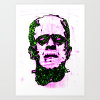 frank Art Prints featuring Frank by Fimbis