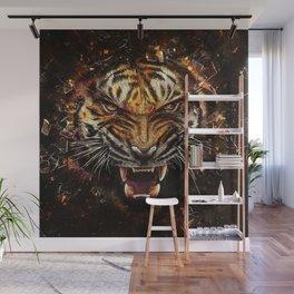 Tiger Roar Wall Mural