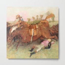 Edgar Degas - Scene from the Steeplechase: The Fallen Jockey Metal Print