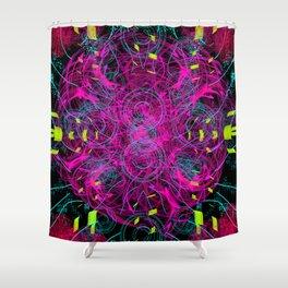 Black Scratch Mandala 2 Shower Curtain