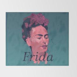 Frida Kahlo - History of Art Throw Blanket