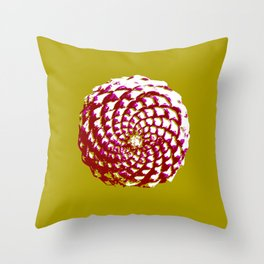 pine cone in olive green, purple and burgandy Throw Pillow