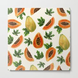 Papayas Metal Print