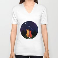 i want to believe V-neck T-shirts featuring I Want To Believe by Sutexii