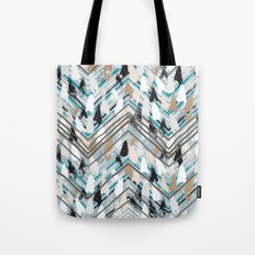 Chevron print with colorful stripes and lines Tote Bag