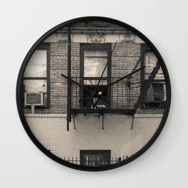 Portrait of a Dog - Urban City Landscape Photography Wall Clock