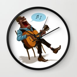 Bluesman Wall Clock