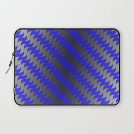 3d Blue Wavy Lines Laptop Sleeve