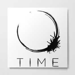 Arrival - Time Black Metal Print
