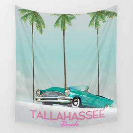 Tallahassee Florida travel poster, Wall Tapestry