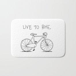 Live to Bike Bath Mat