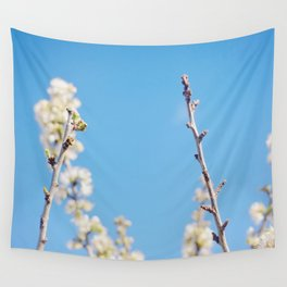 Blue Blossoms Wall Tapestry