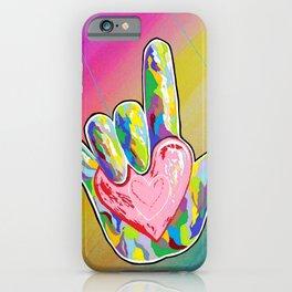 ASL I LOVE YOU Heart iPhone Case