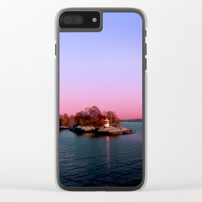 Sunset over the Island Clear iPhone Case