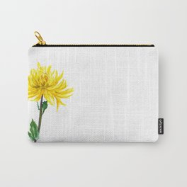 one yellow chrysanthemum Carry-All Pouch