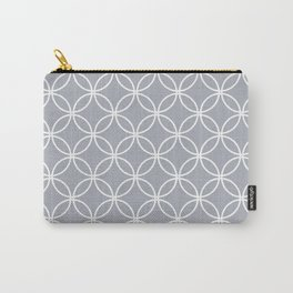 Simple gray, white pattern. Carry-All Pouch