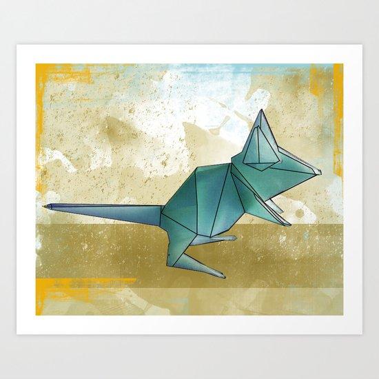 paper mouse Art Print